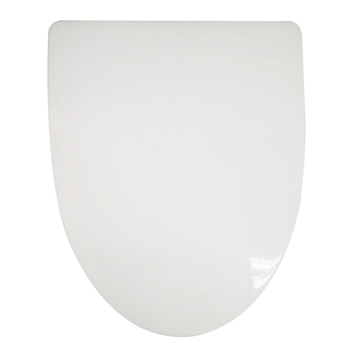 Siège de Toilette Blanc à Fermeture Douce avec Couvercle en PP (DK-CL-022)