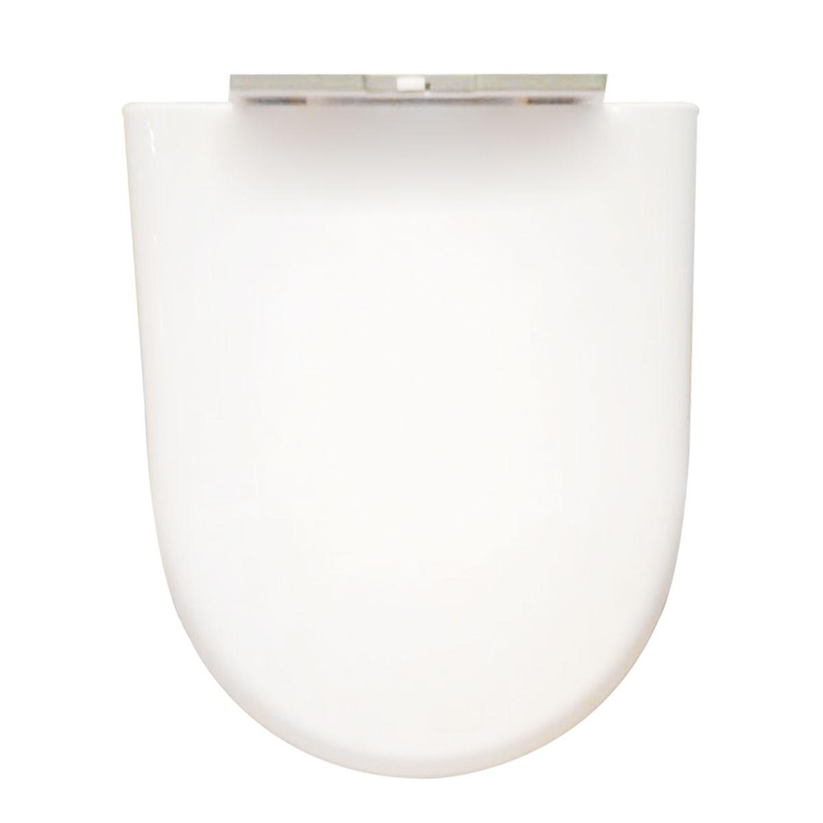 Siège de Toilette Blanc à Fermeture Douce avec Couvercle en PP (DK-CL-026)