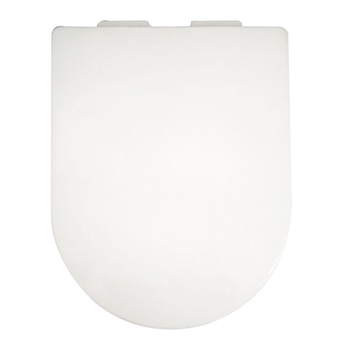Siège de Toilette Blanc à Fermeture Douce avec Couvercle en PP (DK-CL-031)