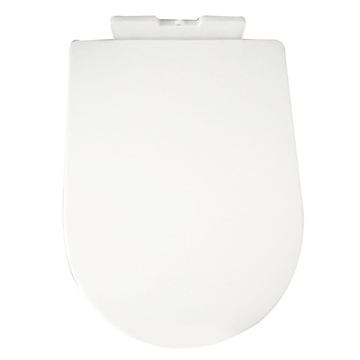 Siège de Toilette Blanc à Fermeture Douce avec Couvercle en PP (DK-CL-090)