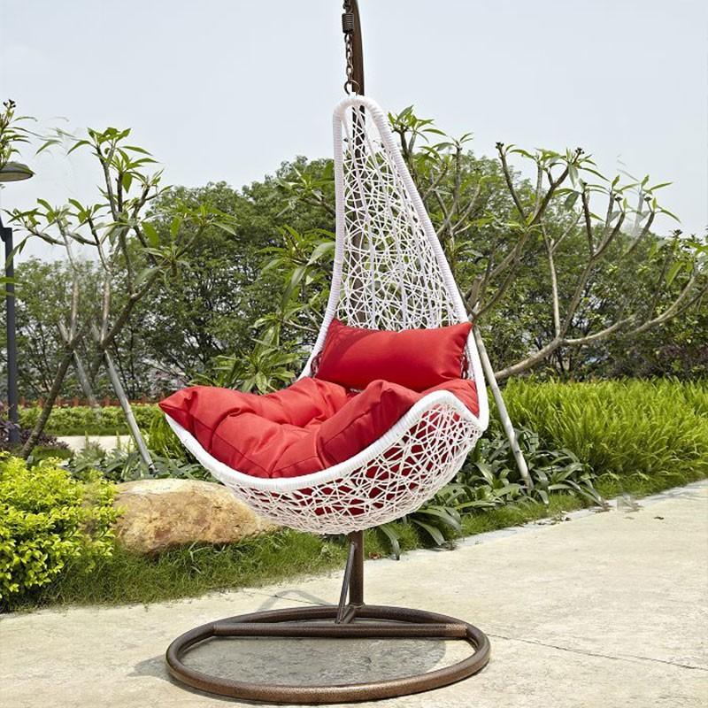 Pe fauteuil suspendu ext rieur armature en acier avec coussin wd 8008 dec - Fauteuil suspendu exterieur ...