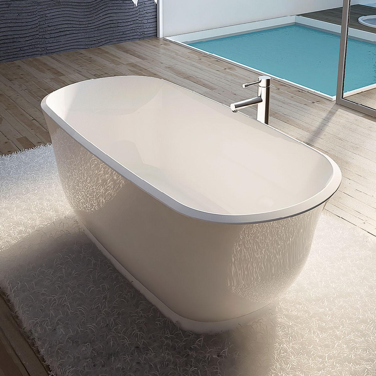 Cinq couleurs disponibles baignoire autoportante blanche for Prix baignoire acrylique