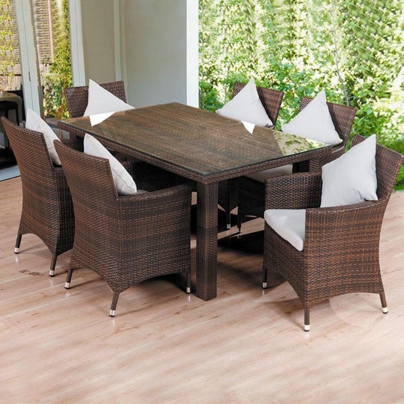 Salle à Manger de Jardin de 7 Pièces: Table à manger, 6 Chaises (JMS-322)