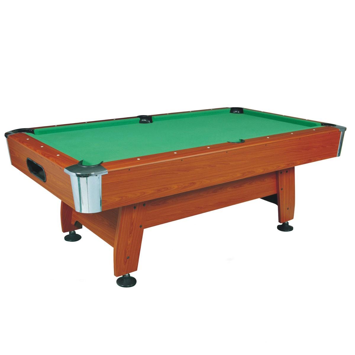 8 Pied Table de Billard avec Système de Retour de Boules et Accessoires (ZLB-P01)