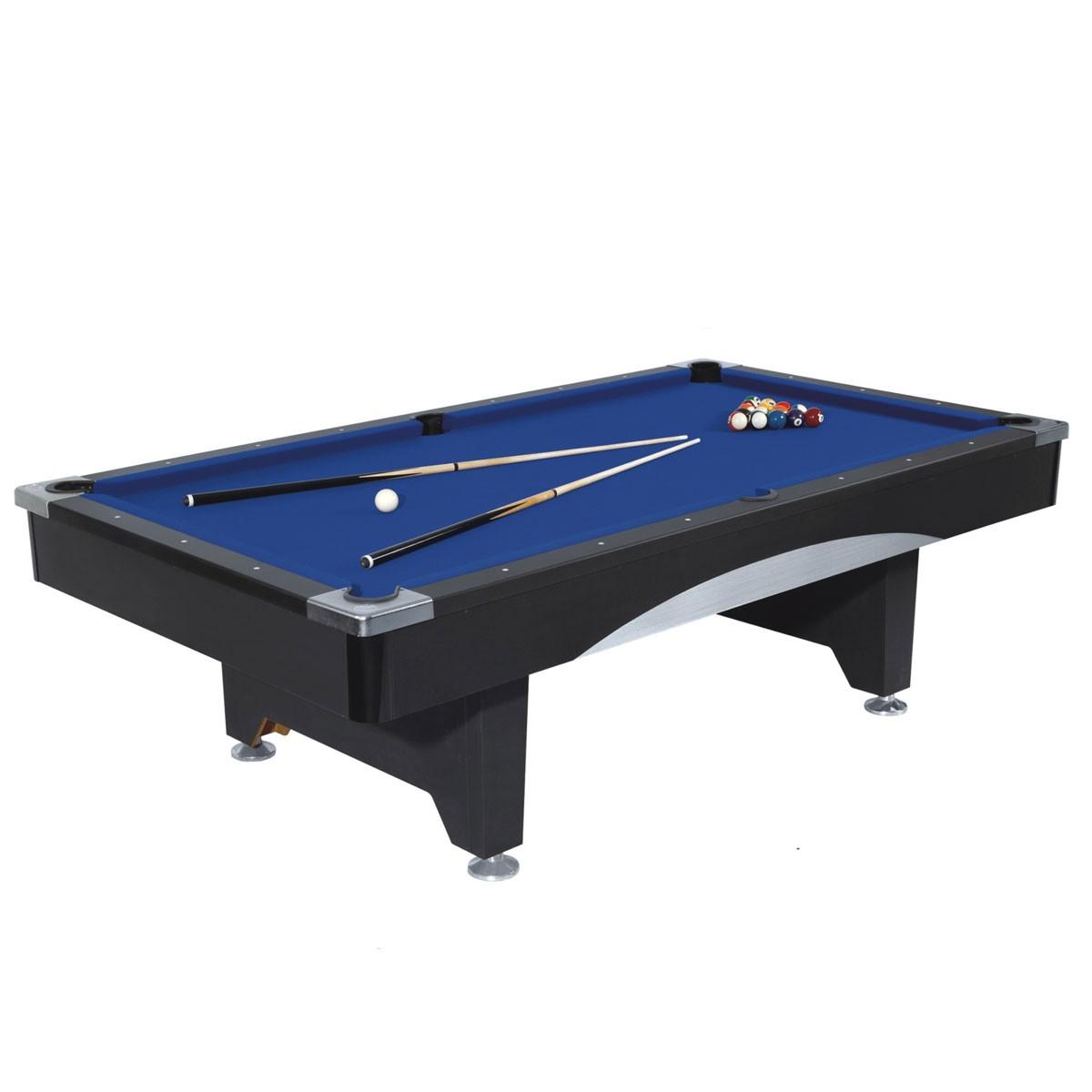 8 Pied Table de Billard avec Système de Retour de Boules et Accessoires (ZLB-P07)
