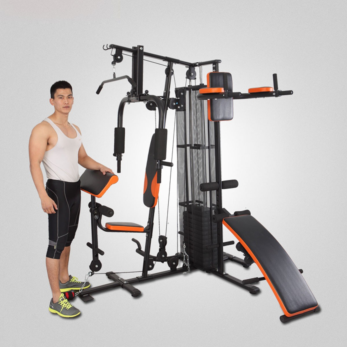 Appareil de Musculation à Domicile de Multi-Fonction pour Multi-utilisateur Simultanément (HG4.1)