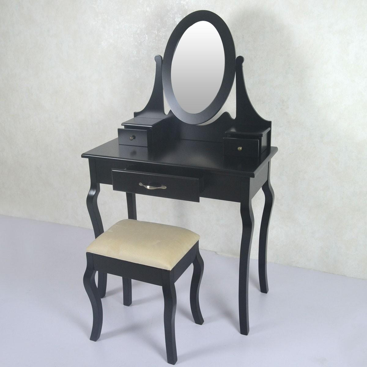 coiffeuse avec tabouret et miroir ji3305 decoraport canada. Black Bedroom Furniture Sets. Home Design Ideas