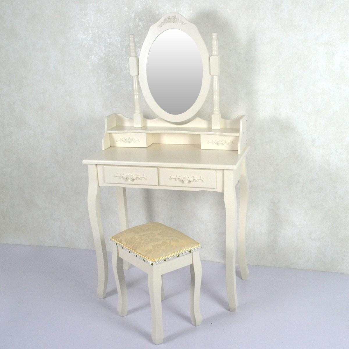 Coiffeuse avec tabouret et miroir ji3306 decoraport canada - Coiffeuse avec tabouret ...
