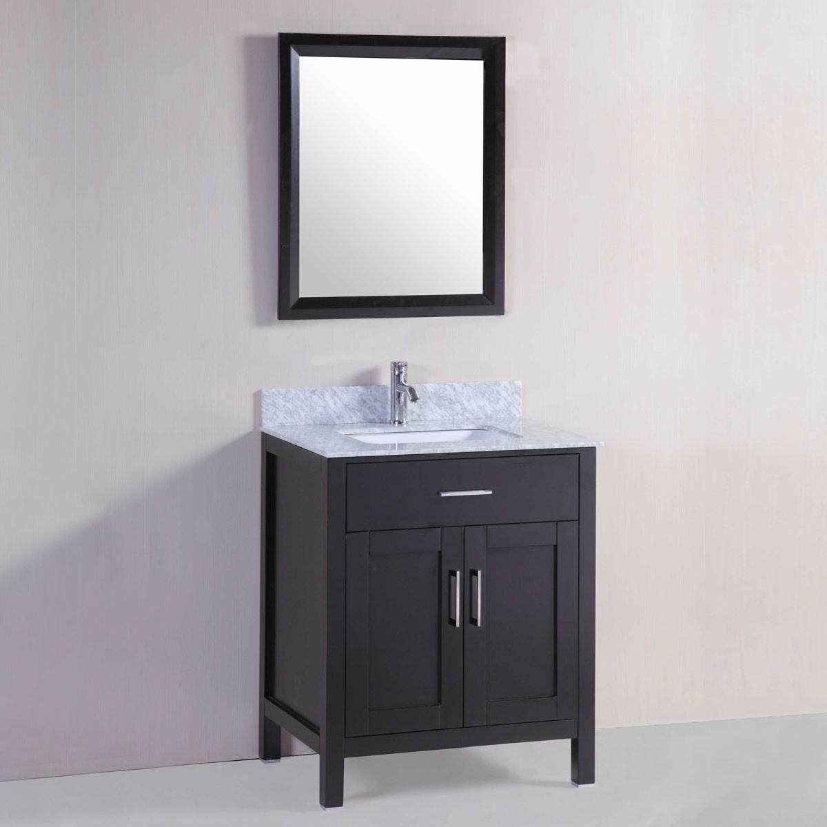 30 po meuble salle de bain sur pieds lavabo simple avec - Meuble lavabo sur pied ...