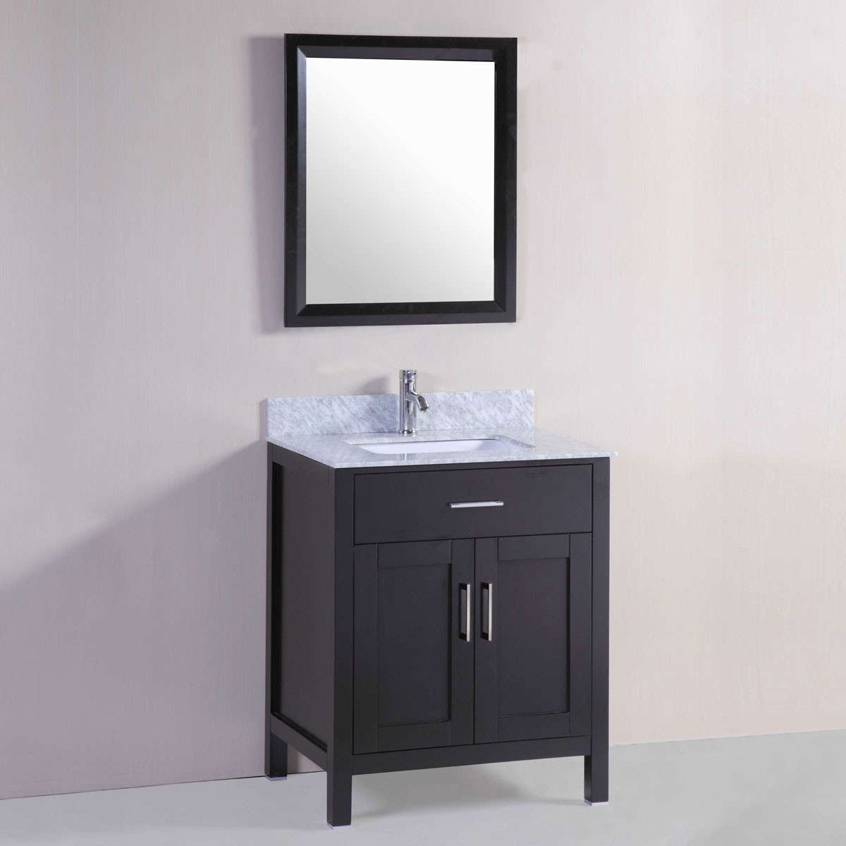 30 po meuble salle de bain sur pieds lavabo simple avec miroir dk t9150 30e set decoraport. Black Bedroom Furniture Sets. Home Design Ideas