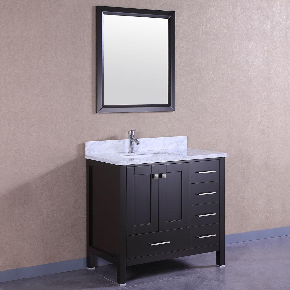 36 po meuble salle de bain sur pieds lavabo simple avec for Liquidation meuble lavabo
