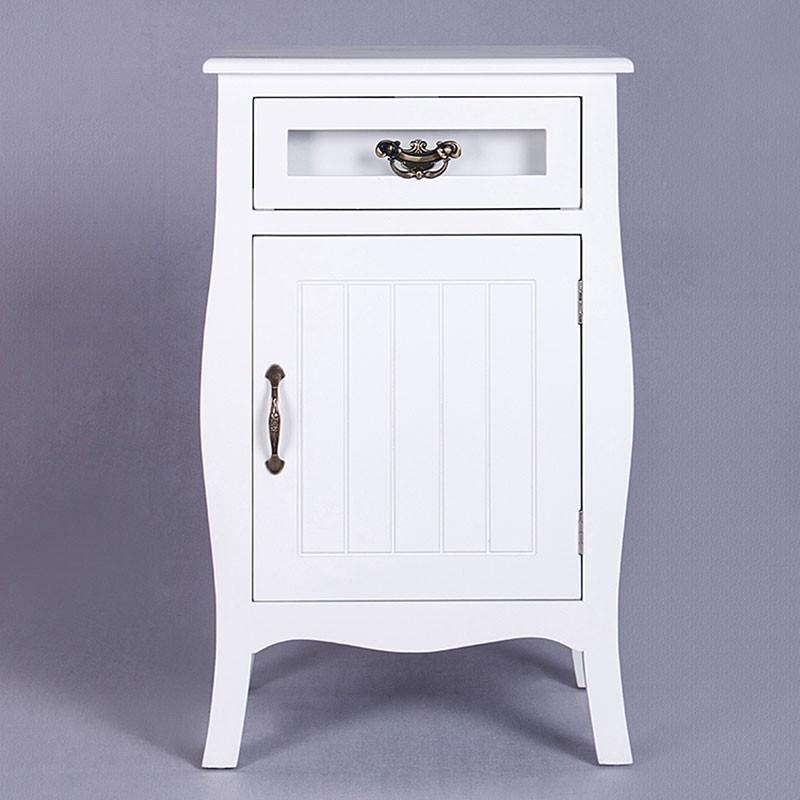 Table de Chevet avec 1 Tiroir et 1 porte d'armoire (JI3212)