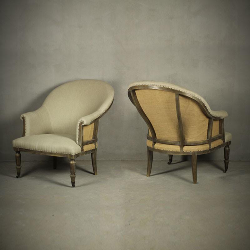 fauteuil en forme de tonneau avec accoudoirs pjc733. Black Bedroom Furniture Sets. Home Design Ideas