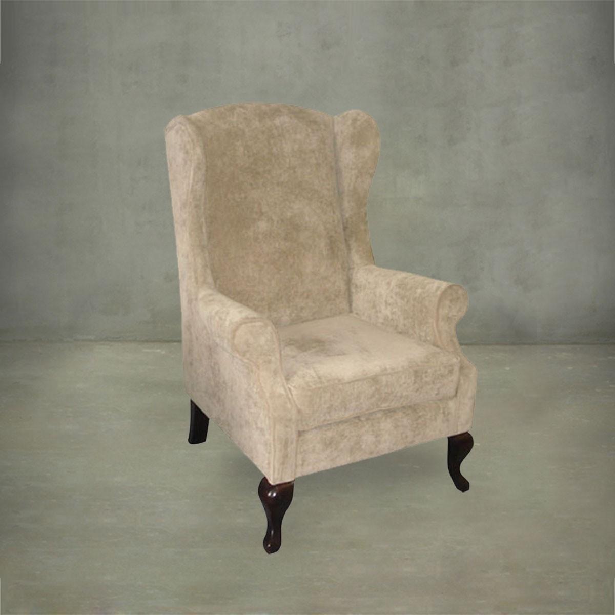 fauteuil club de wingback avec accoudoirs pjs26501 decoraport canada. Black Bedroom Furniture Sets. Home Design Ideas