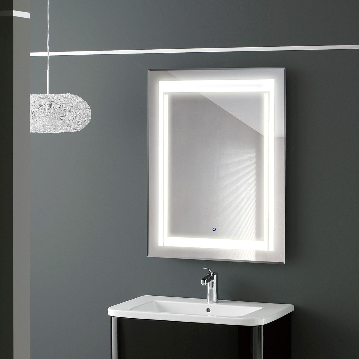 Spot salle de bain avec interrupteur for Miroir salle de bain avec spot