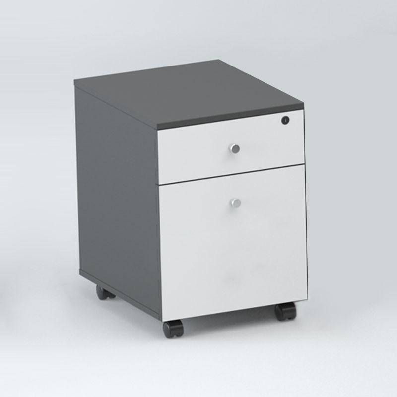 caisson de bureau sur roulettes en couleur de ch ne et blanc 2 tiroirs gt12 decoraport canada. Black Bedroom Furniture Sets. Home Design Ideas