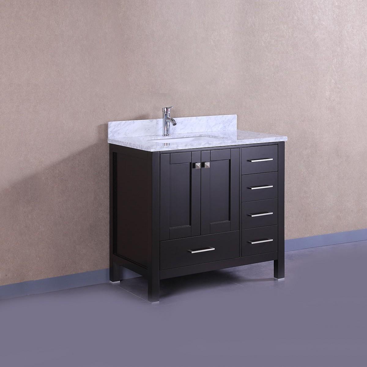 36 po meuble salle de bain sur pieds lavabo simple avec for Interrupteur salle de bain norme