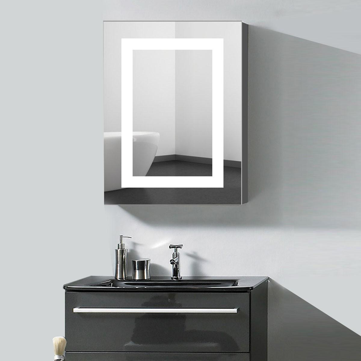 24 x 32 x 5 2 po Armoire miroir LED Salle de Bain en Position