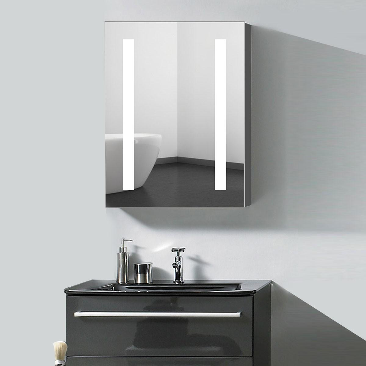 24 x 32 x 5 2 po armoire miroir led salle de bain en for Miroir salle de bain avec led