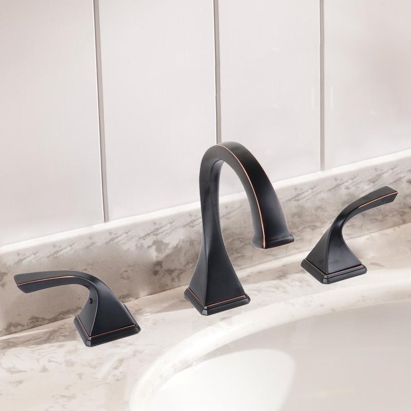 robinet de lavabo vasque laiton fini bronze noir sans plomb dk ydl 3803orb decoraport canada. Black Bedroom Furniture Sets. Home Design Ideas