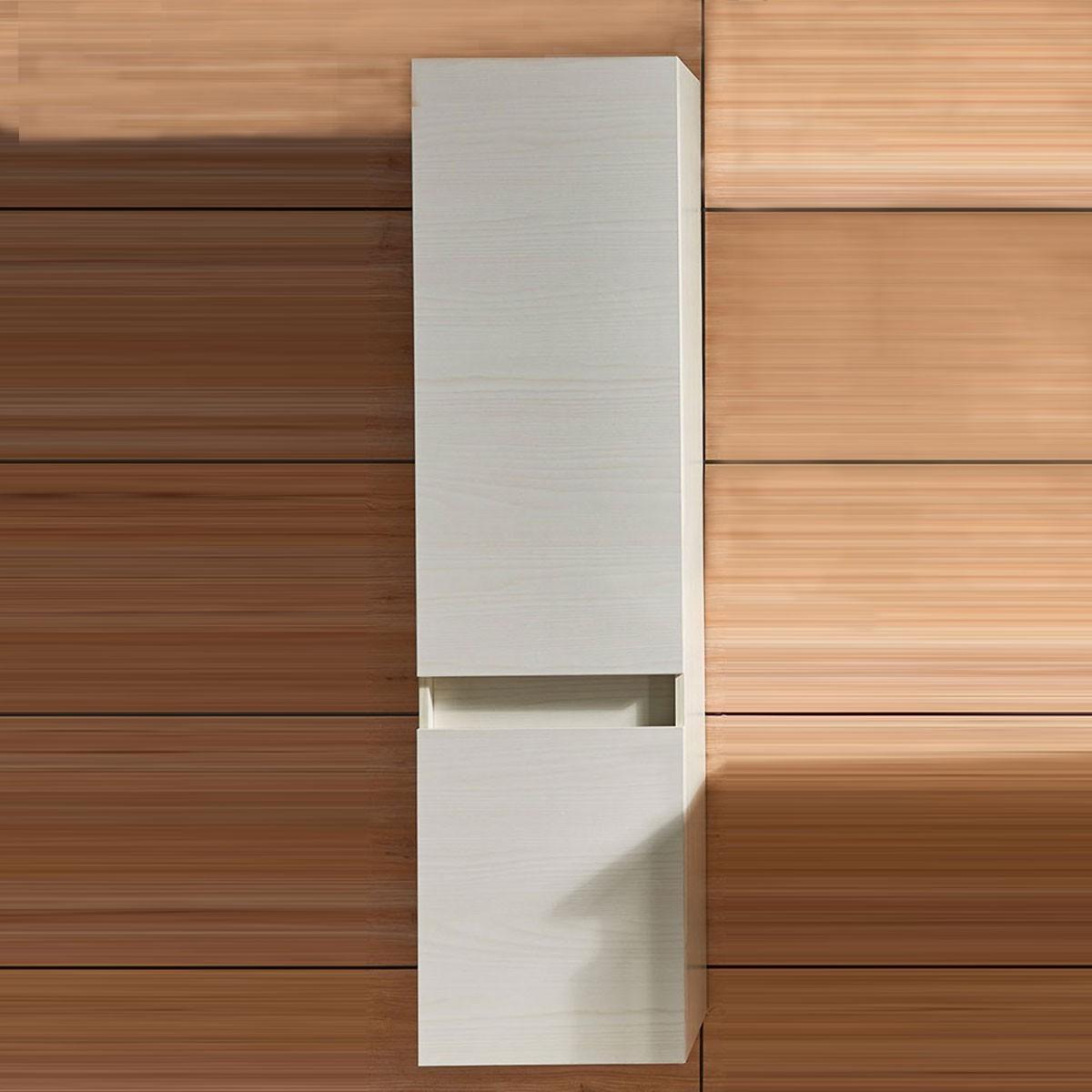 31po meuble salle de bain suspendu au mur avec miroir et
