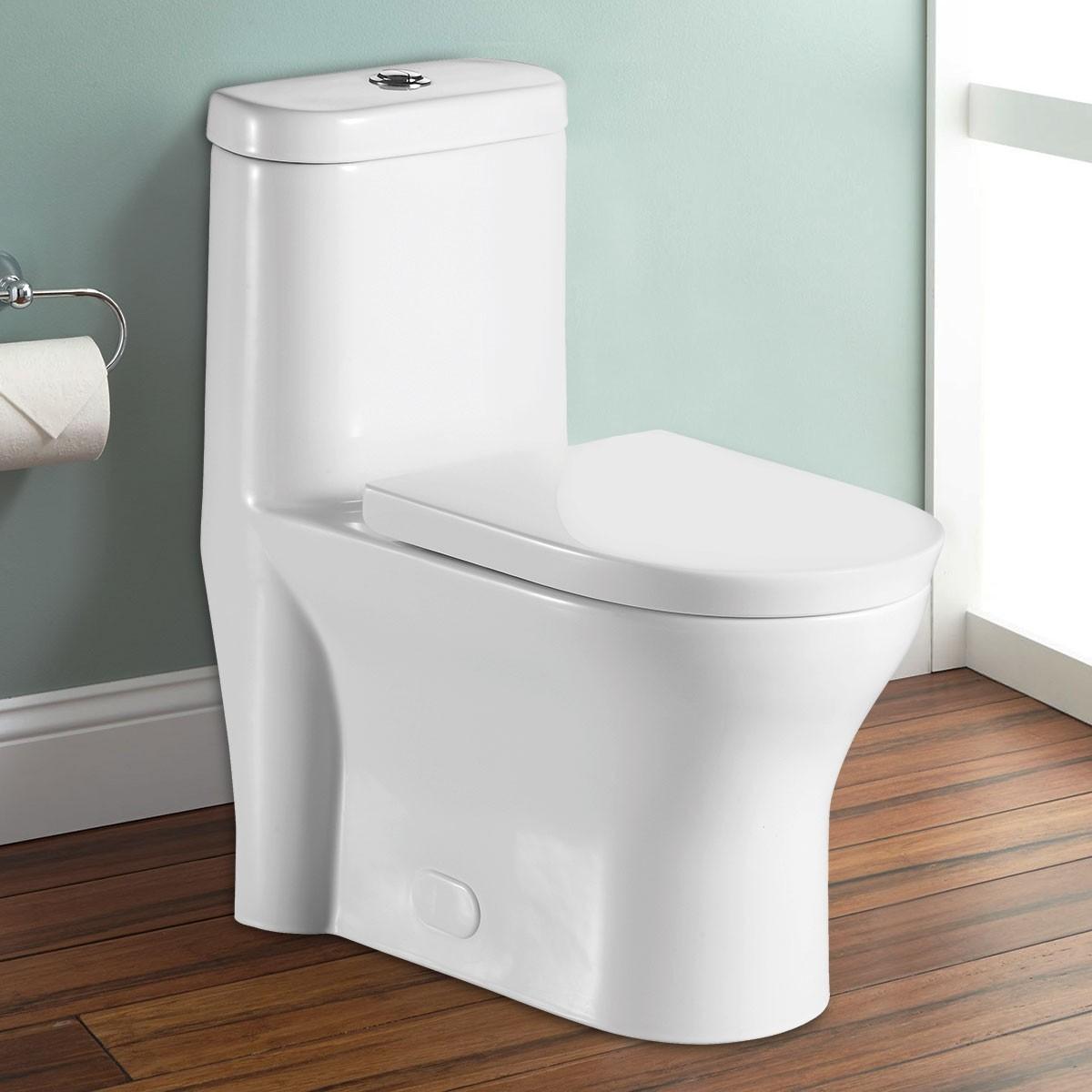 Toilette Monopièce à Double Chasse et à Action Siphonique (DK-ZBQ-12207)