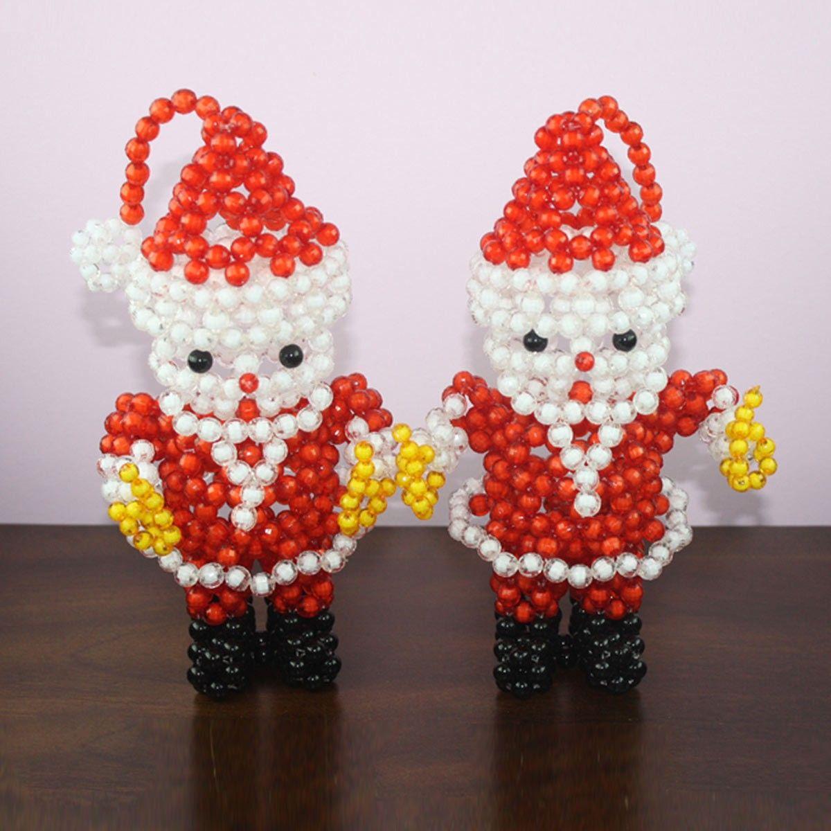 Oeuvre artisanale en perle/Forme Père Noël Fantaisie (DK-CZ07)