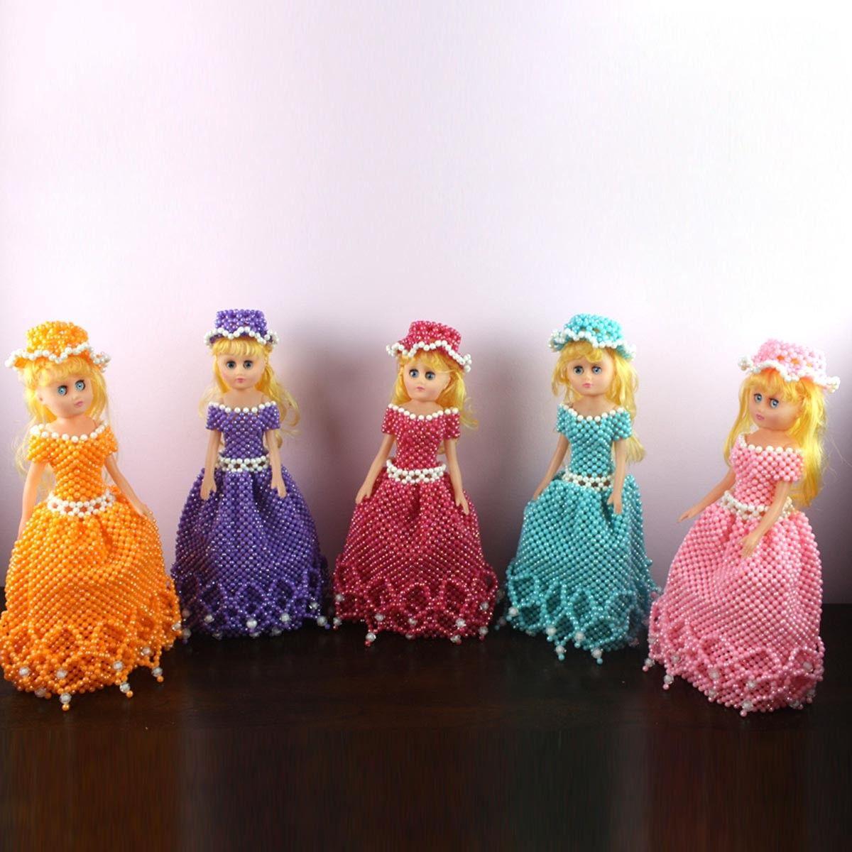 Oeuvre artisanale en perle/Forme Poupée Barbie Fantaisie (DK-CZ12)