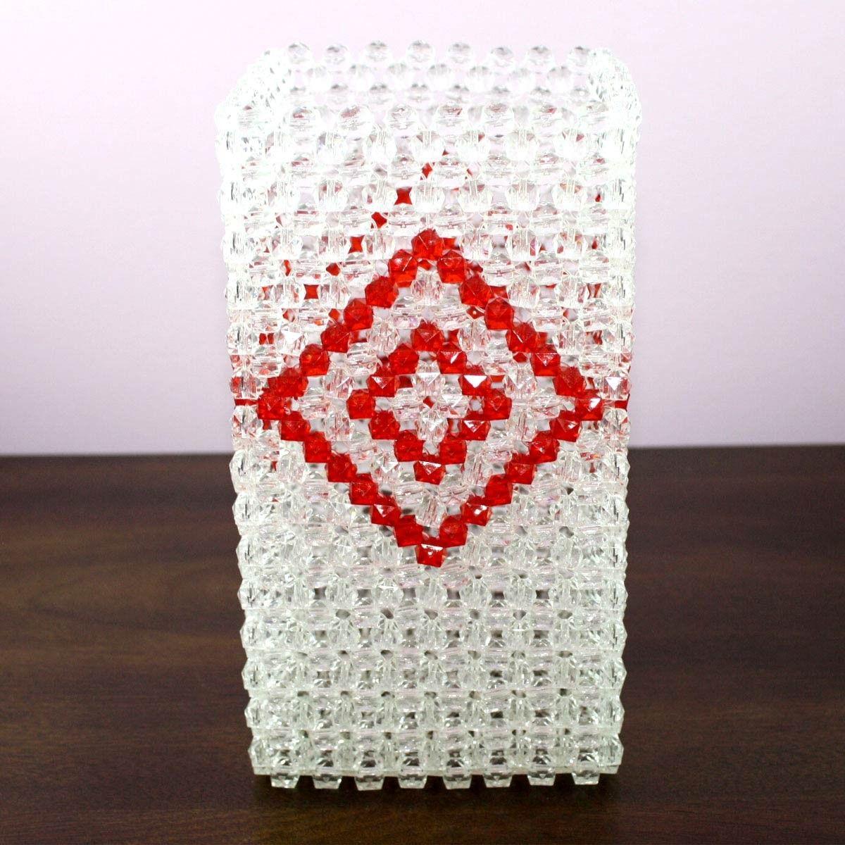 Oeuvre artisanale en perle/Forme Vase à Fleurs Fantaisie (DK-CZ19)