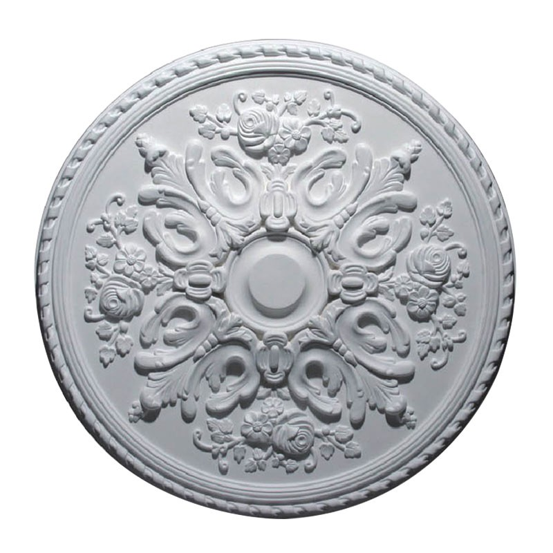 32.3 po Médaillon de Plafond Blanc en Polyréthane (DK-DKM-5009)