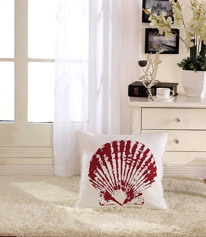Shell Printed Cotton Cushion Cover (DK-LG001-3)