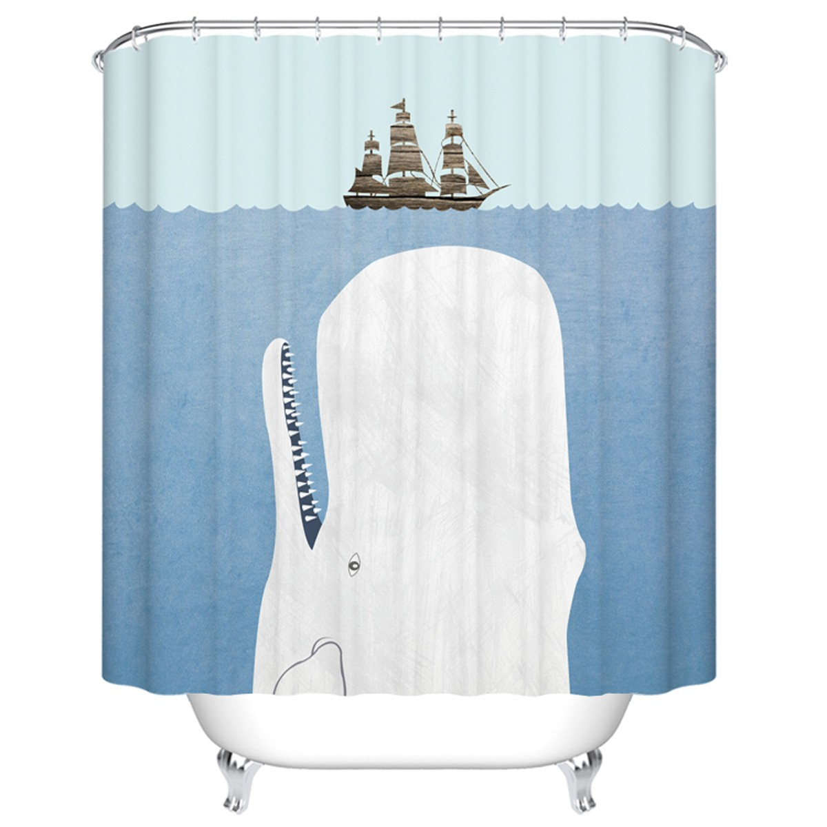 Rideau de douche imperm able pour salle de bain 70 l x for Rideau de douche tissu impermeable