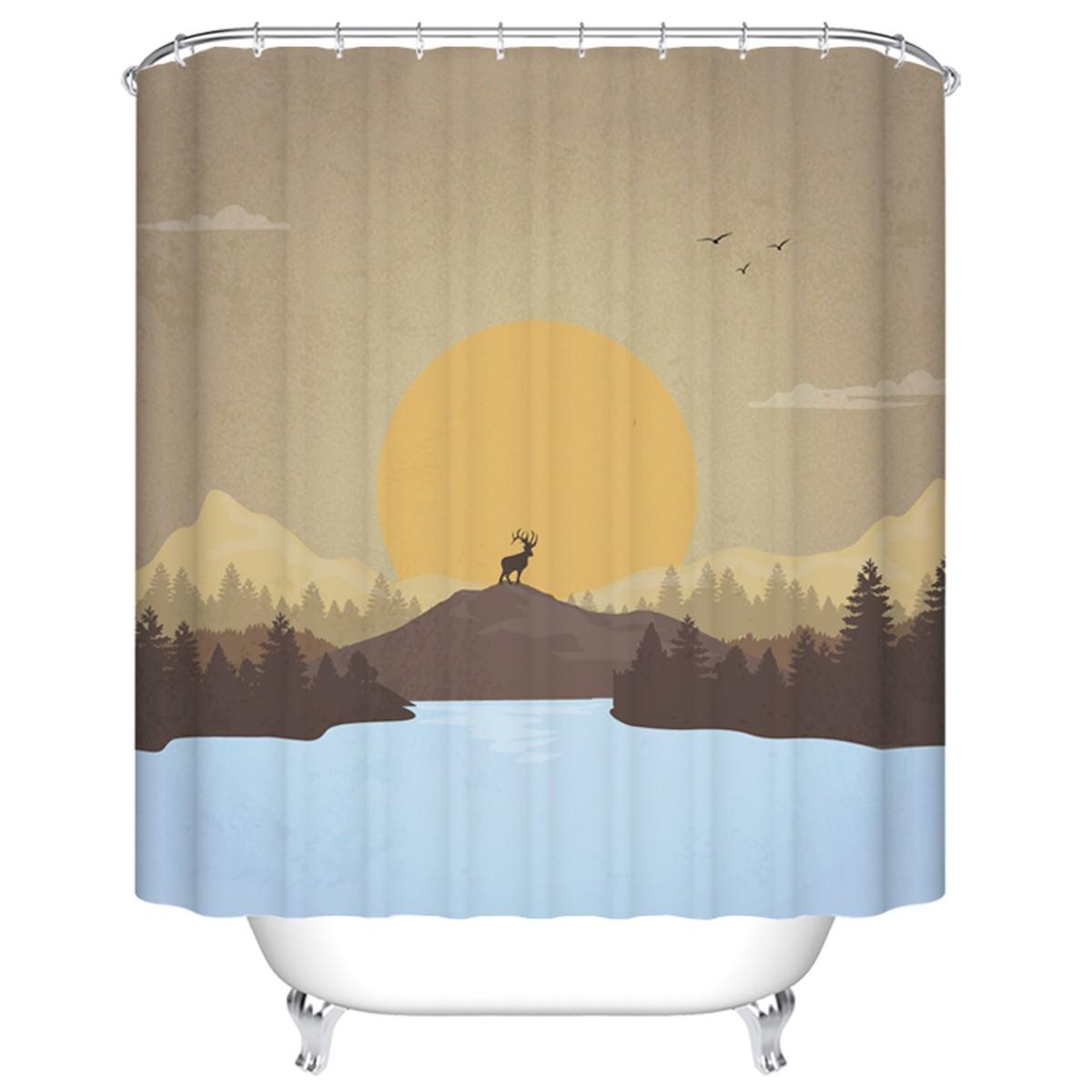 rideau de douche imperm able pour salle de bain 70 l x 72 h dk yt024 decoraport canada. Black Bedroom Furniture Sets. Home Design Ideas
