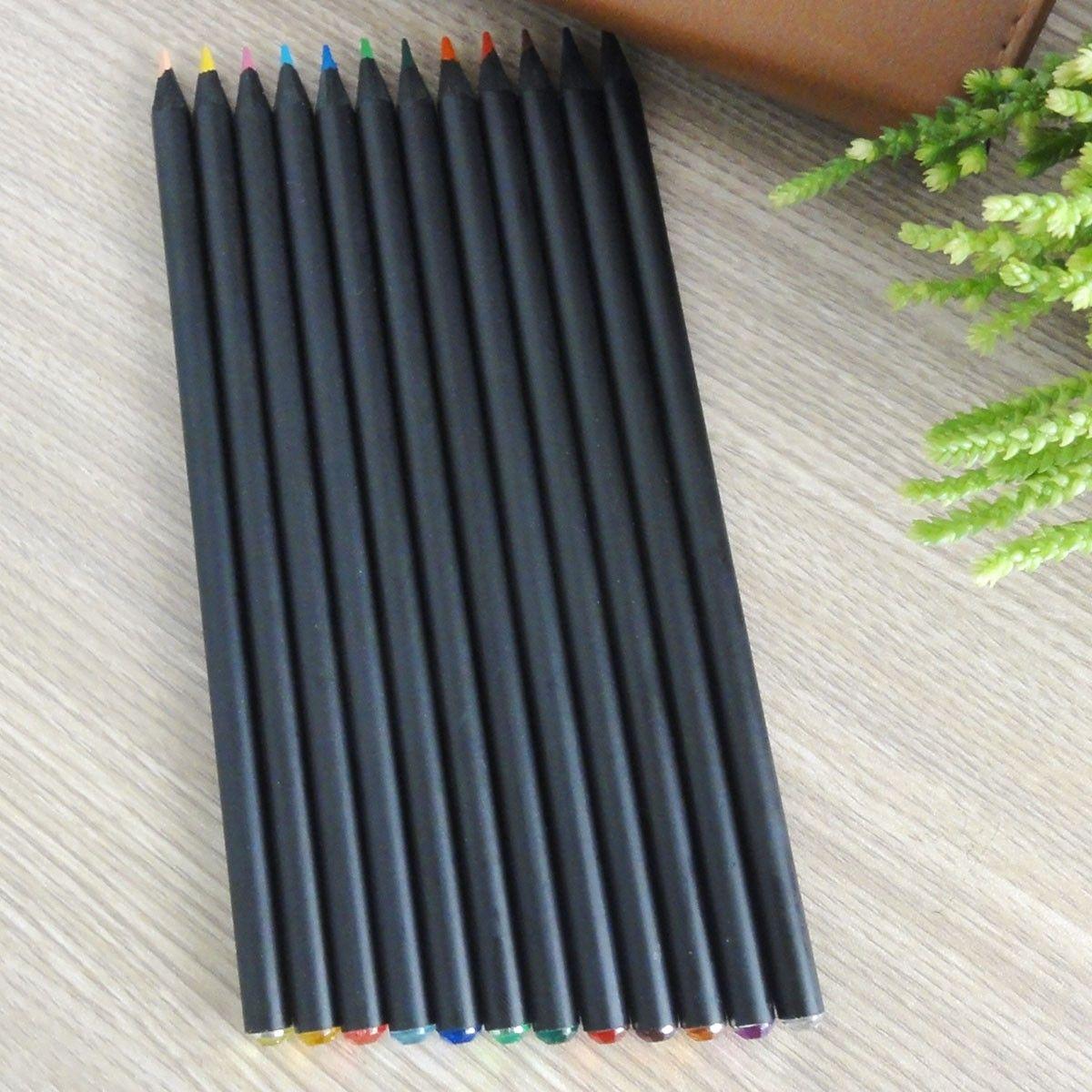 Crayon de Couleur Cylindrique avec Diamant Acrylique, 2.0mm, 12/Paquet (DK-PP3307)