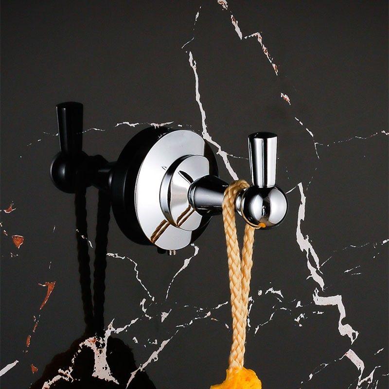 Crochet à Peignoir - Laiton Fini Chrome (80653)