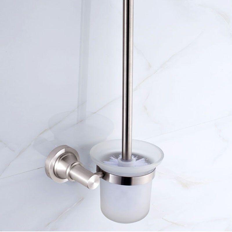 Support à Brosse pour Toilettes - Alliage d'Aluminium Anti-Oxydation (60594)