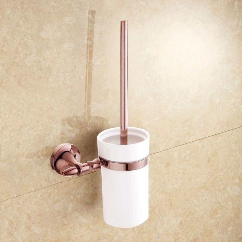 Support à Brosse pour Toilettes - Laiton en Couleur Or Rose (90394E)