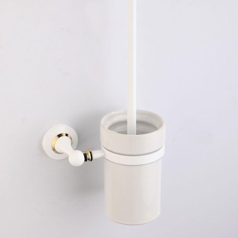 Support à Brosse pour Toilettes - Laiton Peint Blanc (80394D)