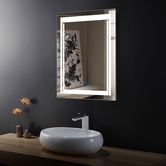 24 x 32 po Miroir LED Vertical Anti-buée (DK-OD-CK150-W)