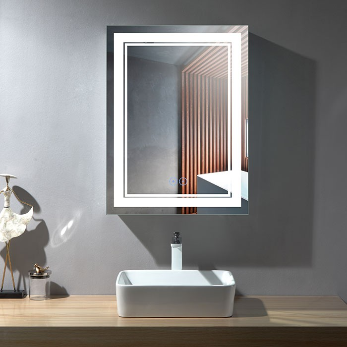 24 x 32 po Miroir LED Vertical Anti-buée (DK-OD-CK160-W)