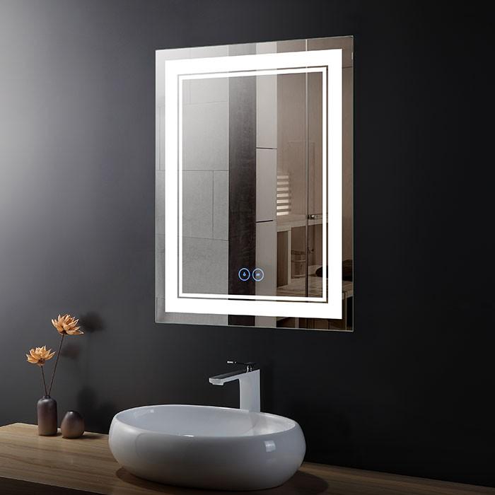 28 x 36 po Miroir LED Vertical Anti-buée - Luminosité Réglable (DK-OD-CK160-D)