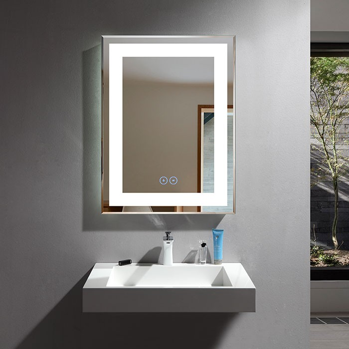 24 x 32 po Miroir LED Vertical Anti-buée (DK-OD-CK168-W)