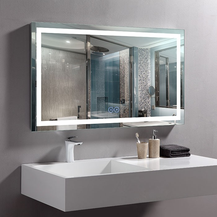 40 x 24 po Miroir LED Horizontal Anti-buée (DK-OD-CK010-W2)