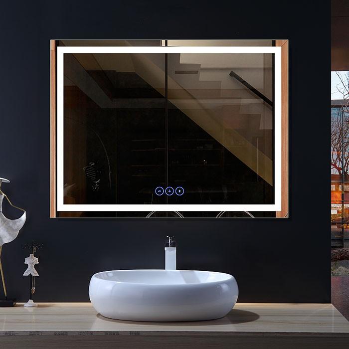 48 x 36 po Miroir LED Horizontal Anti-buée avec Bluetooth (DK-OD-CK010-B1)