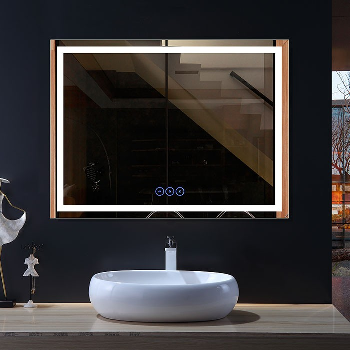 48 x 36 po Miroir LED Horizontal Anti-buée avec Bluetooth (DK-OD-CK010-B1)