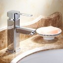 Decoraport Robinet de Lavabo&Vasque - Laiton Fini Chrome (6001A)