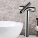 Robinet de Lavabo&Vasque - Simple Trou Double Levier - Laiton Fini Chrome (6017)