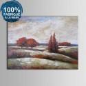 Peinture à l'Huile 100% Peinte à la Main sur Canevas - Paysage Abstrait (DK-JX-YH01)