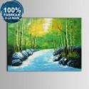 Peinture à l'Huile 100% Peinte à la Main sur Canevas - Paysage Réaliste (DK-JX-YH062)