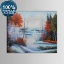 Peinture à l'Huile 100% Peinte à la Main sur Canevas - Paysage Abstrait (DK-JX-YH059)